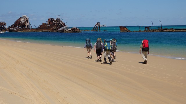 Walking on Moreton Island